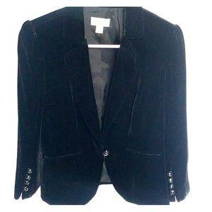 Ann Taylor Loft dressy black velvet jacket